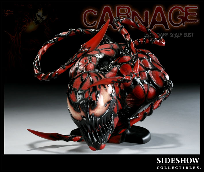 Carnage bust 534/3333 Attakus bombyx Spiderman statue ...  |Carnage Bust