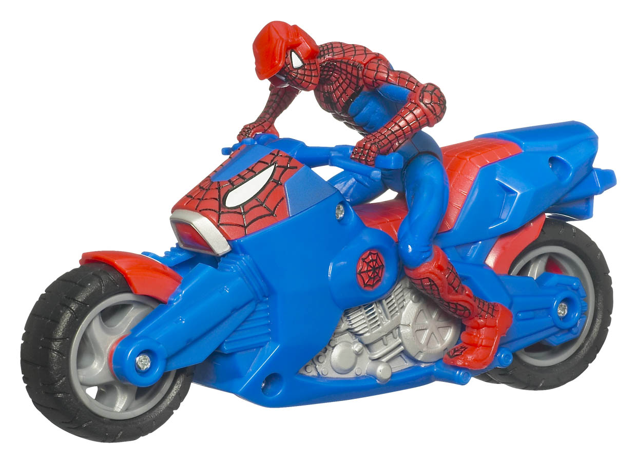 New official photos of spider man and marvel toys the toyark news - Spider man moto ...
