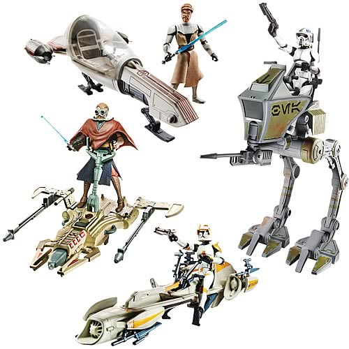 Star Wars The Clone Wars Toys : Clone wars vehicle and figure packs wave revealed the