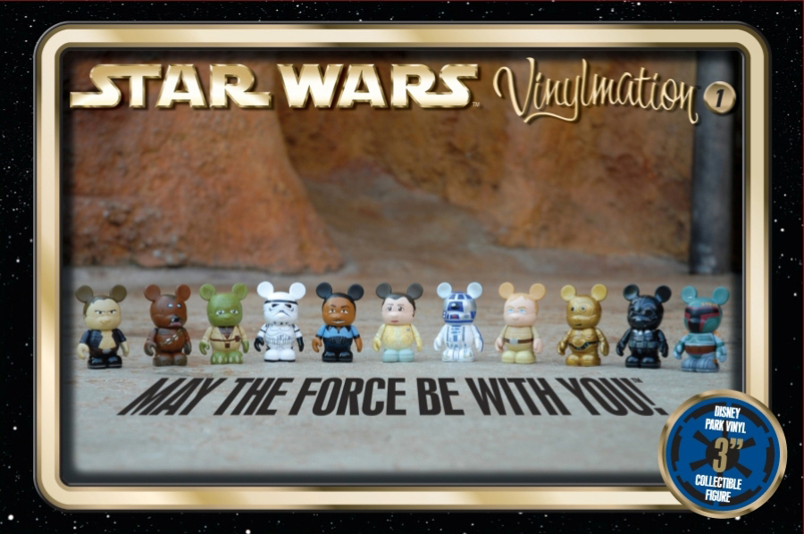 According to the Disney Parks Blog, the Disney Star Wars Vinylmation figures