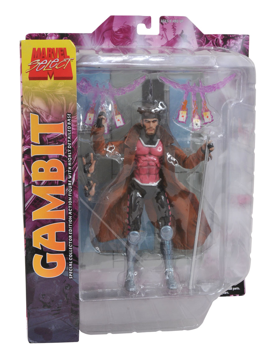 Marvel Select Gambit In Package Images The Toyark News