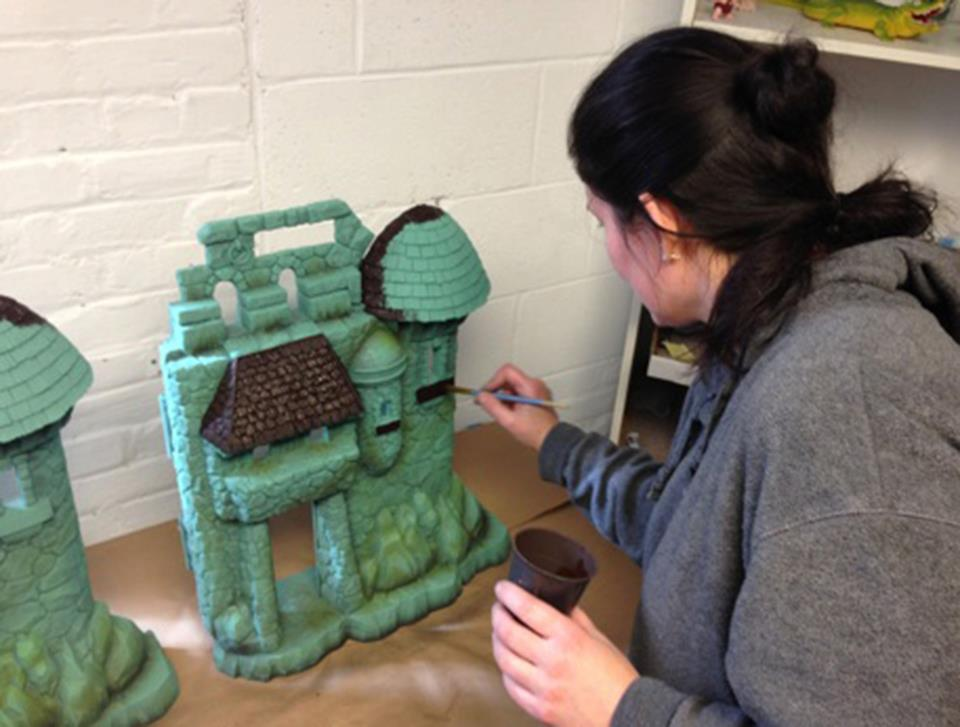 MOTUC-Castle-Grayskull-Being-Painted-2