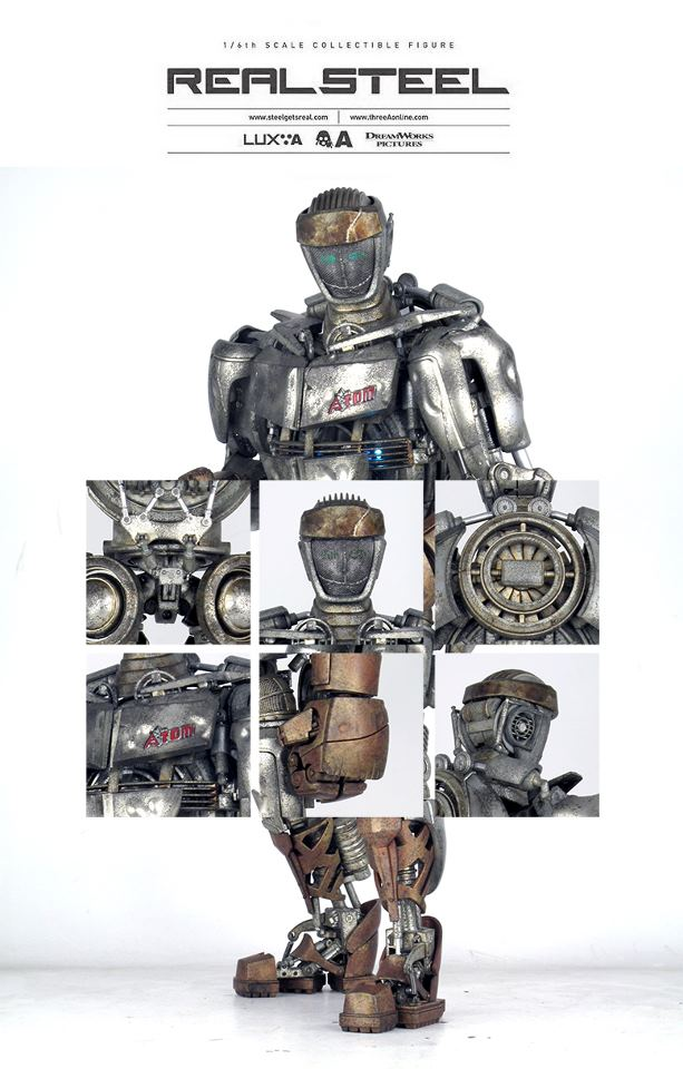 Real steel atom toy