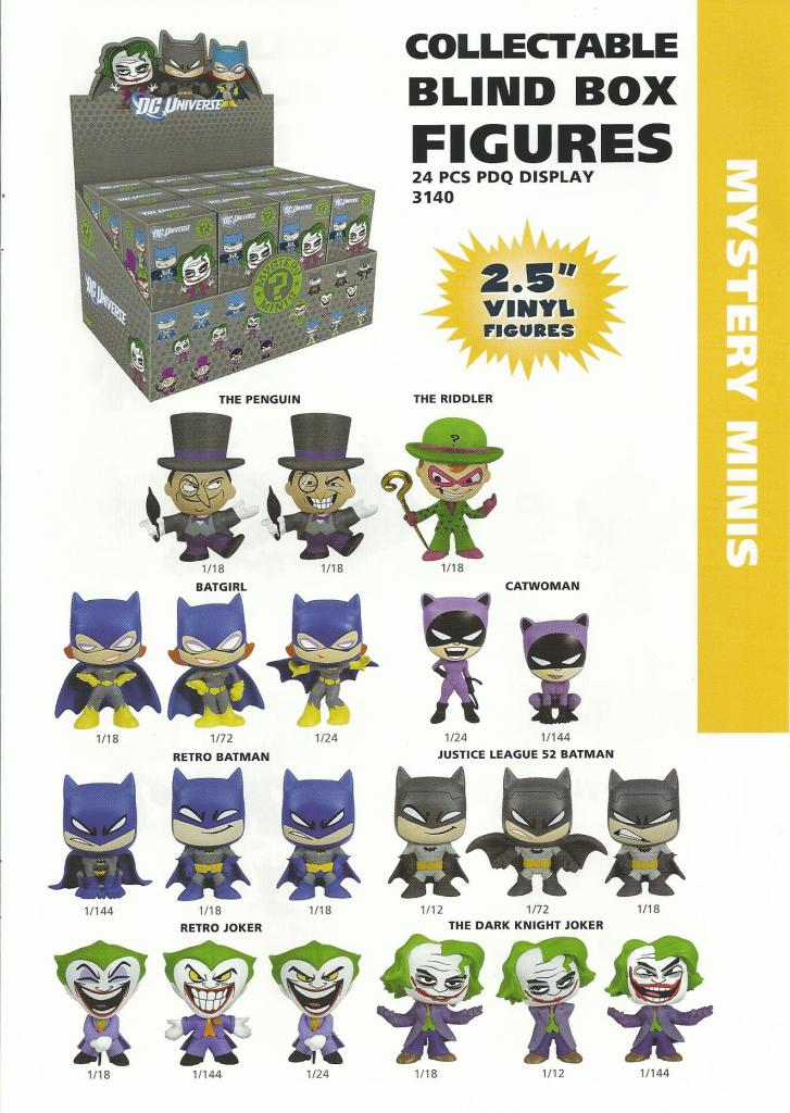 DC Mystery Minis Catalog Scan