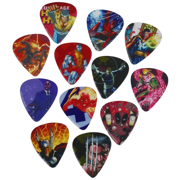 Marvel Universe Heroes Guitar Picks