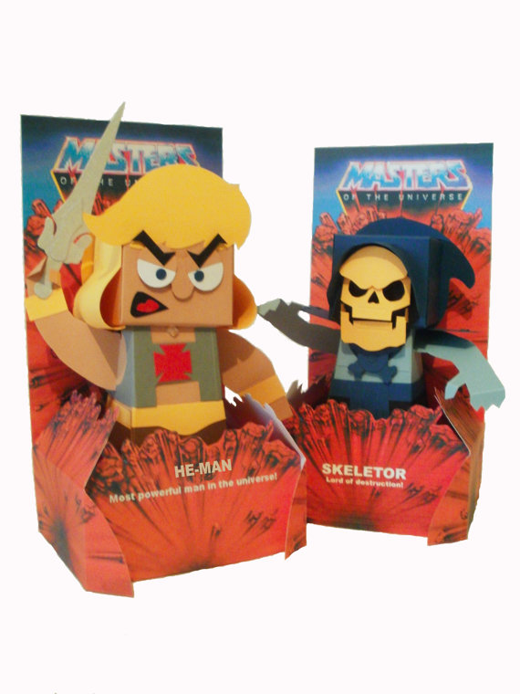 Paper MOTU He Man and Skeletor