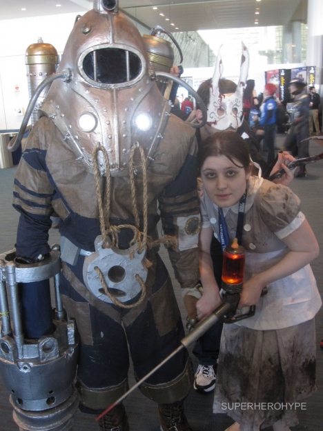 Pax East 2013 Cosplay Bioshock Big Daddy and Little Sister