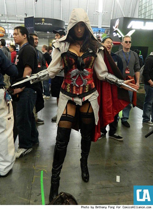 Pax East 2013 Cosplay Female Ezio from Assassins Creed