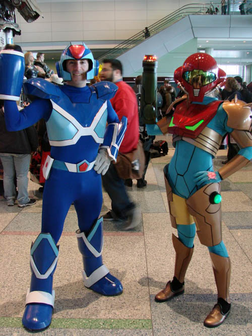 Pax East 2013 Cosplay Mega Man X and Samus Aran