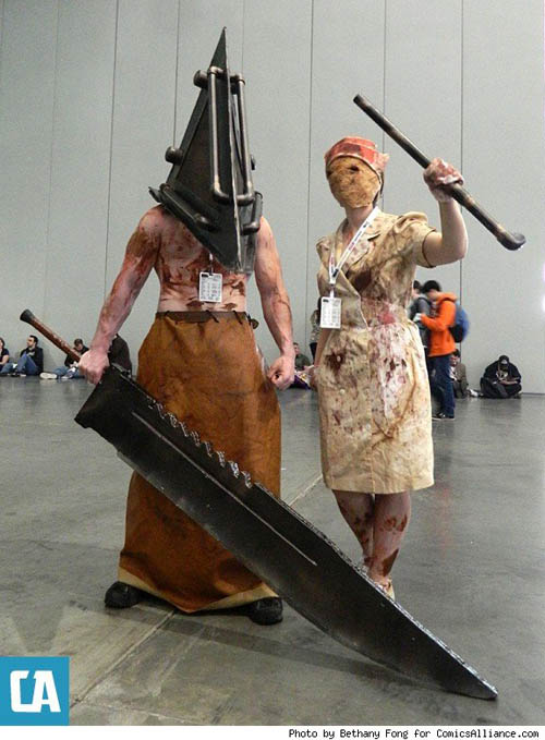 Pax East 2013 Cosplay Silent Hill Pyramid Head and Nurse
