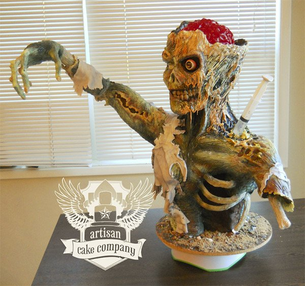 Rice Krispies Zombie Cake