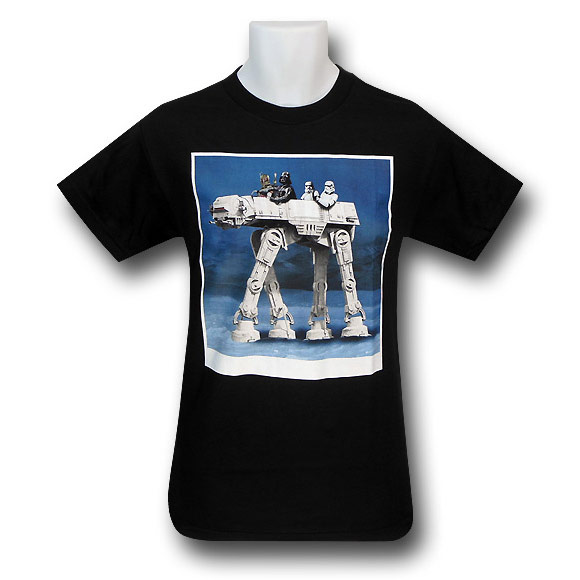 Star Wars ATAT Ride Black TShirt