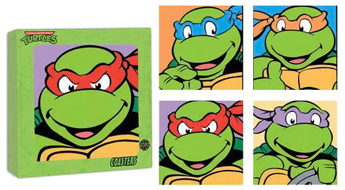 TMNT Glass coasters
