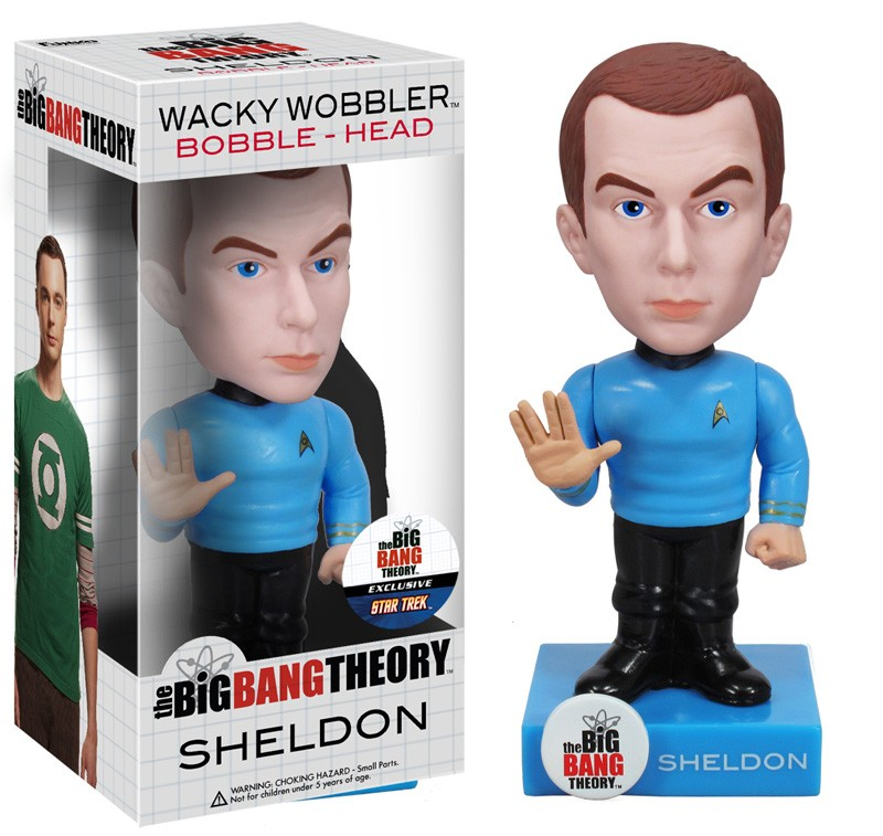 May The 4th Be With You Sheldon Cooper: Funko Big Bang Theory Star Trek Themed Wacky Wobblers