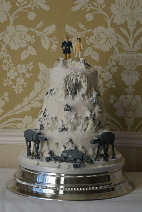 Hoth Wedding Cake