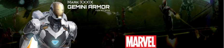 Iron Man 3 Gemini Armor Action Hero Vignette