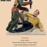 Star Trek Captain Kirk vs Gorn Ornament