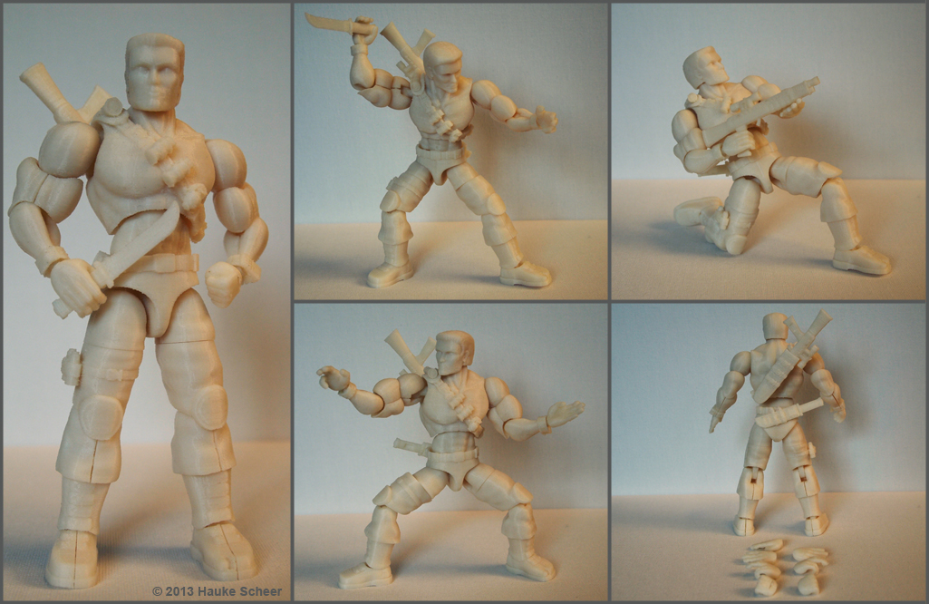 3d printed action figure gijoe