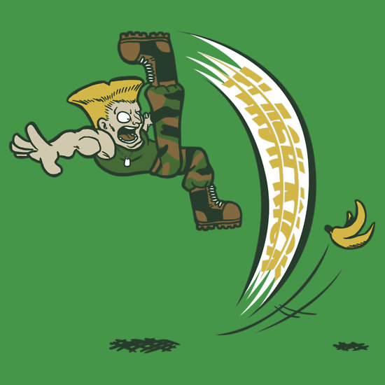 Guile Flash Kick T Shirt