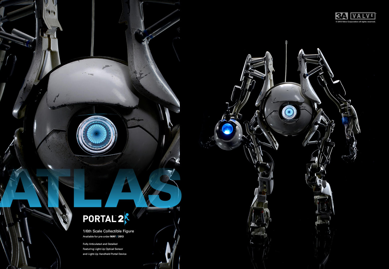 3a 39 s portal 2 atlas and p body new photos the toyark news for 3 portals