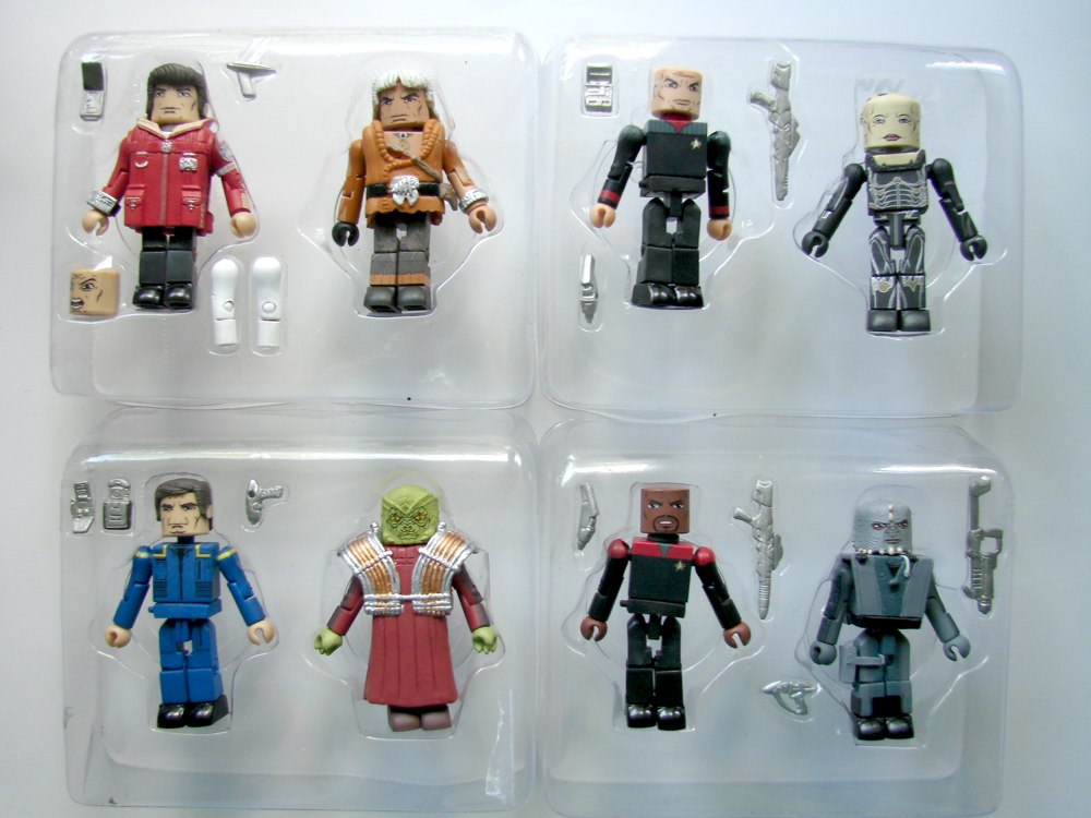Star trek legacy minimates série 1 enterprise capitaine archer /& Xindis 2-pack