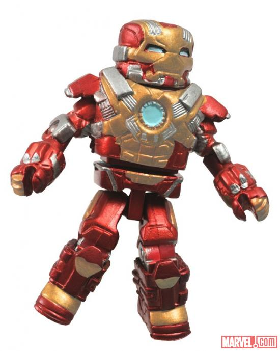 Diamond select toys iron man 3 minimates the toyark news - Mini iron man ...