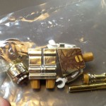 mr gold mini figure lego rare