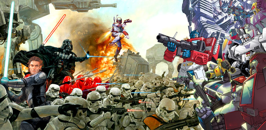 starwars empire vs transformers autobots1