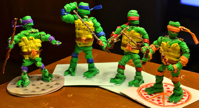 tmnt twist tie sculptures