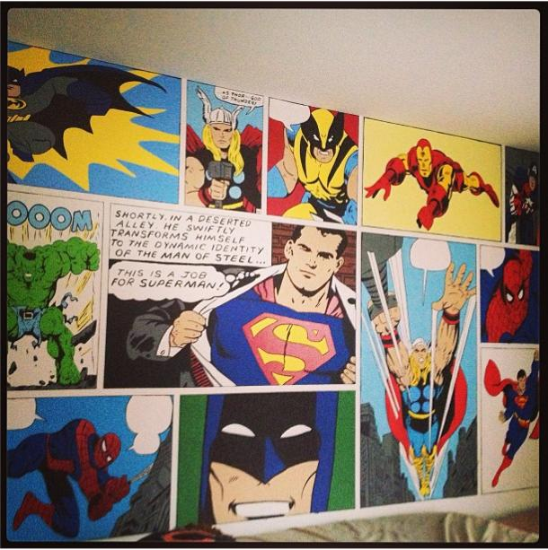 Super Hero Wall