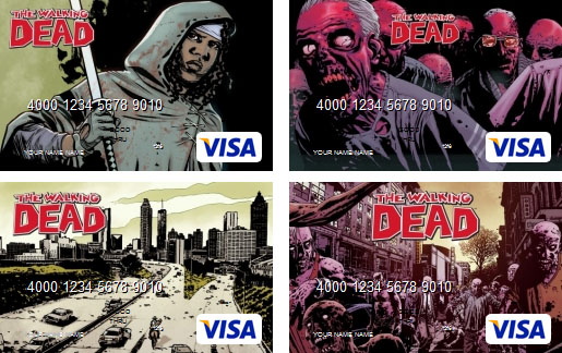 Walking Dead Visa Cards