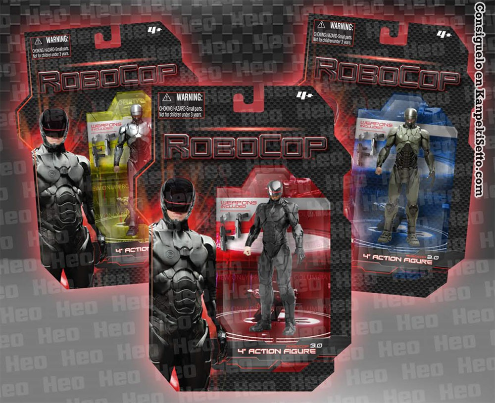 Robocop 4 Inch Action Figures