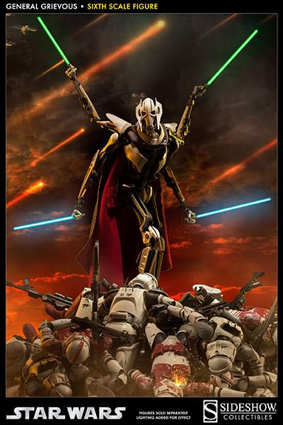 [SideShow] Star Wars: General Grievous 1/6th Scale Figure - Página 2 Sixth-Scale-General-Grievous-Figure-004