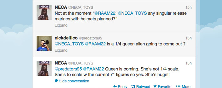 NECA Alien Queen Tweet