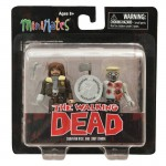 Walking Dead Minimates TRU Survivor Rick Grimes and Shot Zombie