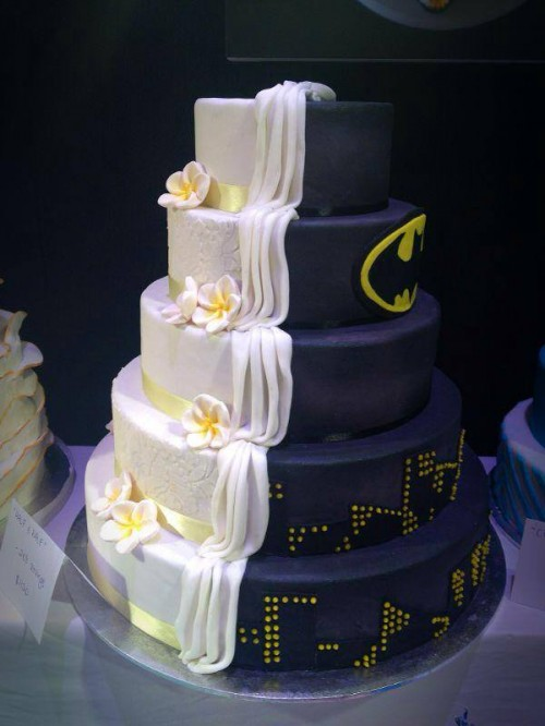 Batman wedding cake