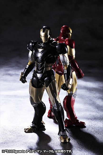 sh figuarts iron man mark 6 black 2