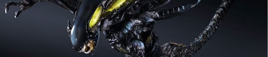 Aliens Colonel Marines Play Arts Kai Alien Spitter 3