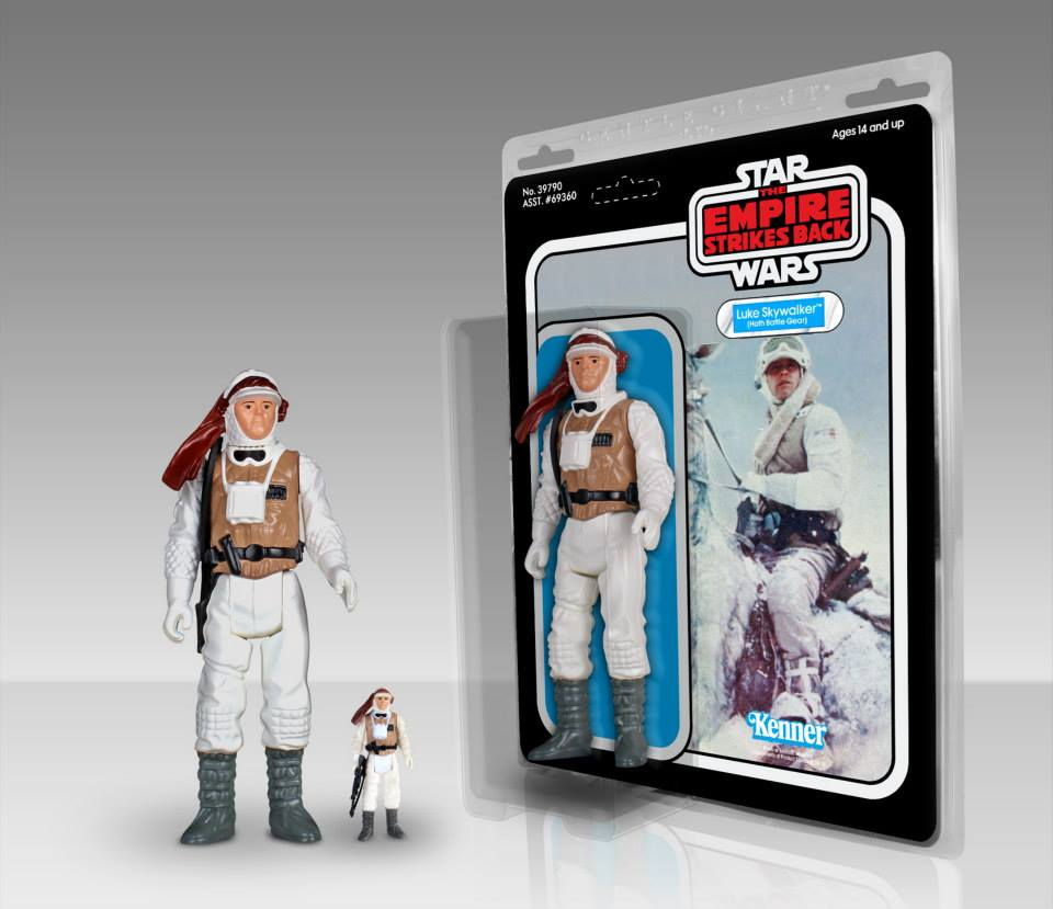 Star Wars Jumbo Kenner Hoth Luke Skywalker 001