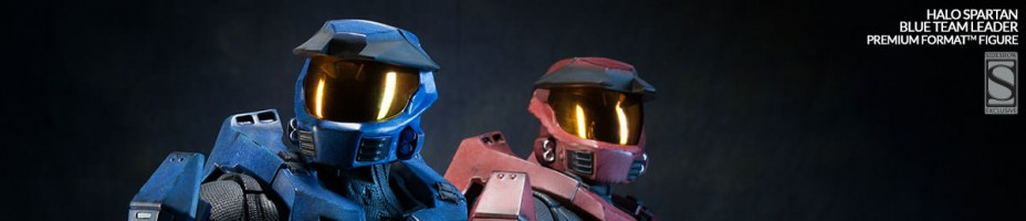 HALO Spartan Blue Team Leader Statue 015