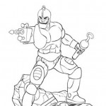 MOTU Trap Jaw Statue Line Art
