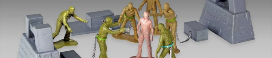 Walking Dead Army Men Series 2 Woodbury Arena Survivor Set 1