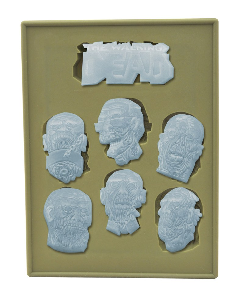 Walking Dead Zombie Heads Silicone Tray 1