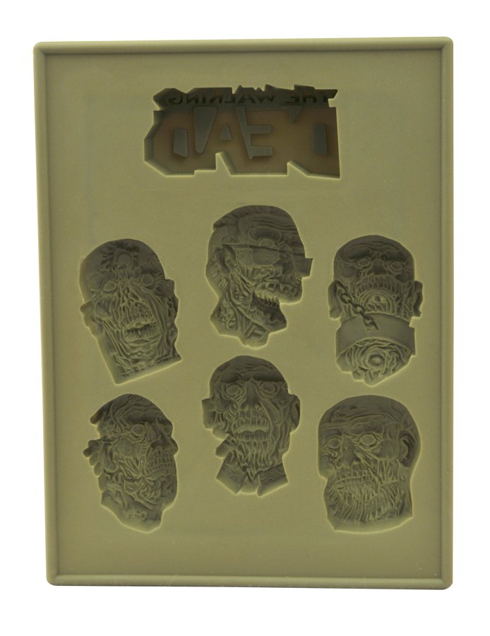 Walking Dead Zombie Heads Silicone Tray 2