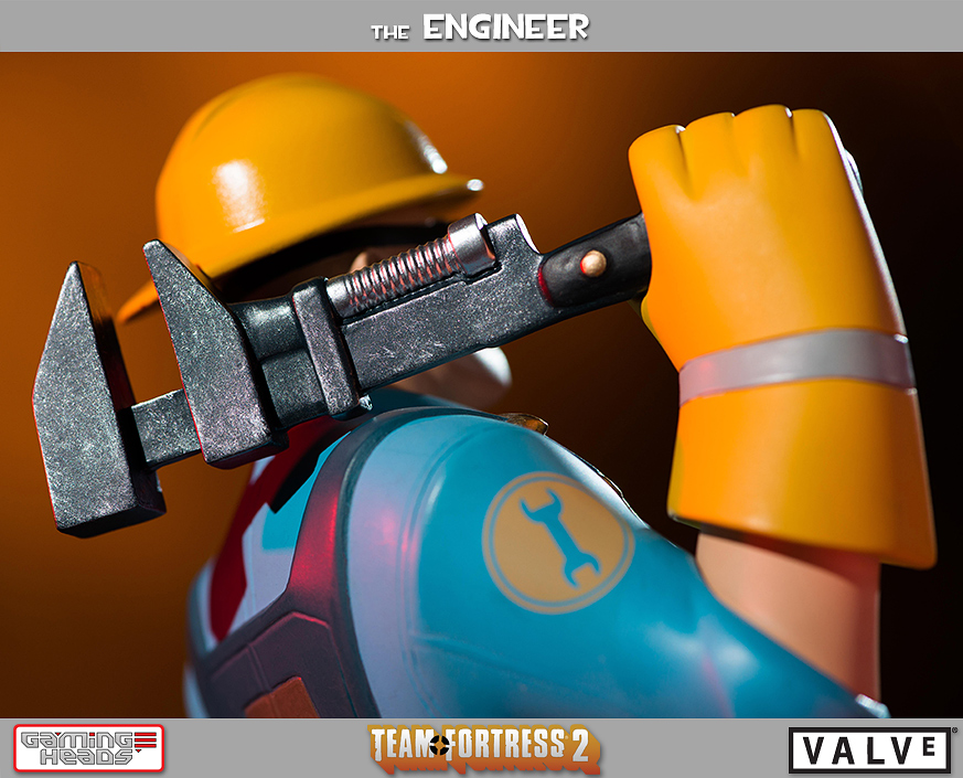 gaming heads team fortress 2 engineer red and blu statues