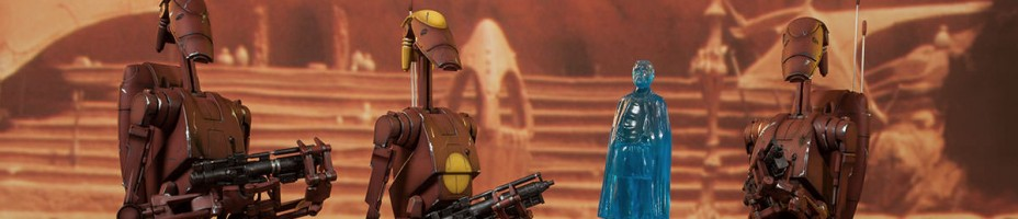 Geonosis Commander Battle Droid and Count Dooku Hologram 013