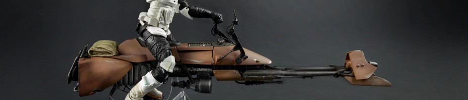 STAR WARS BLACK SERIES DELUXE SPEEDER BIKE BIKER SCOUT A6588