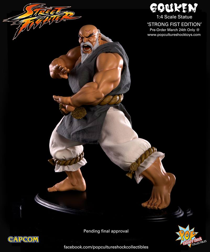 Street Fighter Gouken Strong Fist Statue 013