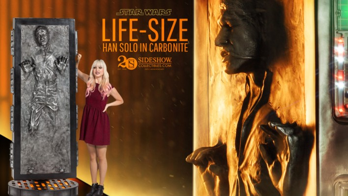 Sideshow Previews Savage Opress Statue and Life Size Han Solo in Carbonite