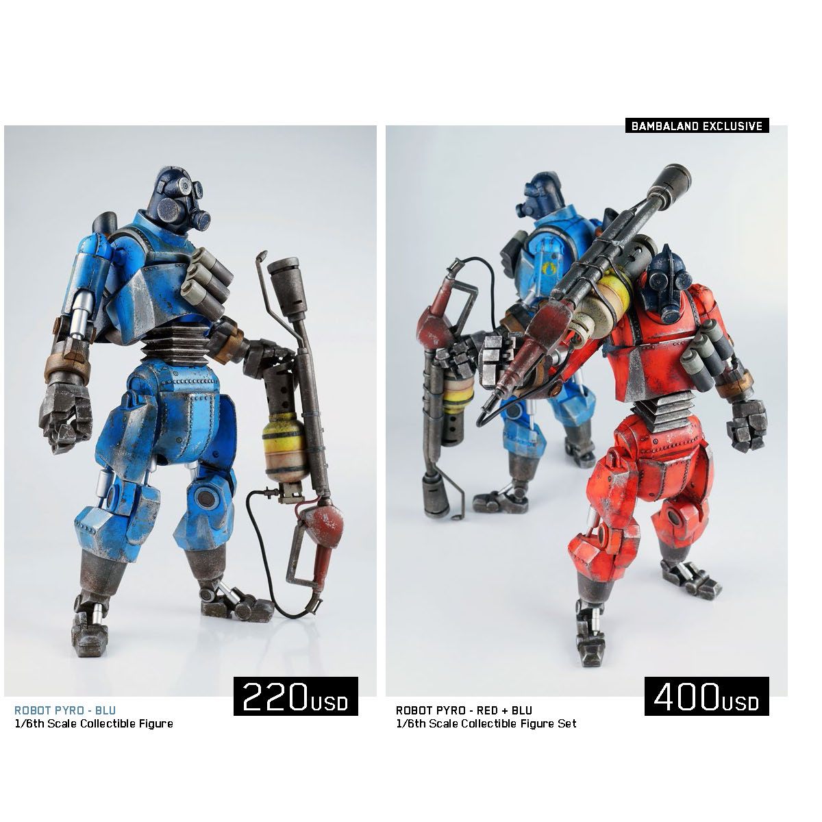 3a Reveals Team Fortress 2 Robot Pyro Figures The Toyark